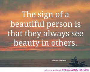 Beautiful People Quotes A beautiful person