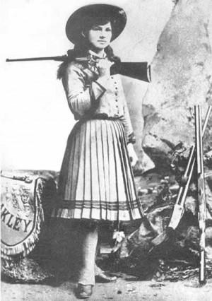 Annie Oakley; sharpshooter