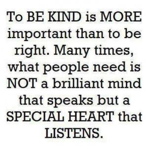 Learn to listen!