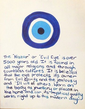 am obsessed with the evil eye.