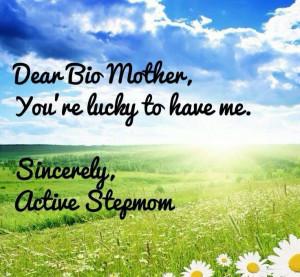 Bio mom...