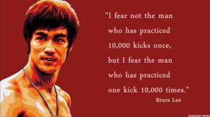 Bruce Lee - Practiced Quotes Wallpaper