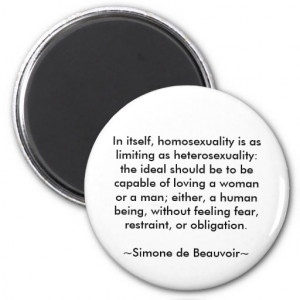 Simone de Beauvoir quote Magnet