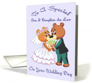 son and daughter in law on your wedding day card 575418