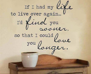 If I Had My Life To Live Over quotes Wall Decals