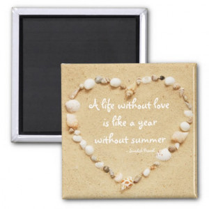 Seashell Heart Love Quote Magnet