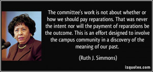 community in a discovery of the meaning of our past Ruth J Simmons