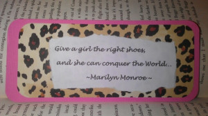 Marilyn Monroe Quote Paper Bookmark Handmade By Me =