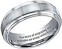 ... engraved with a personal inscription. Machine engraved bands are