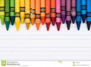 Colorful Crayons Sheet Lined Paper Education Background