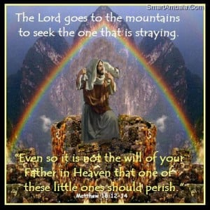 The Lord Goes To The Mountains To Seek The One That Is Straying - God ...