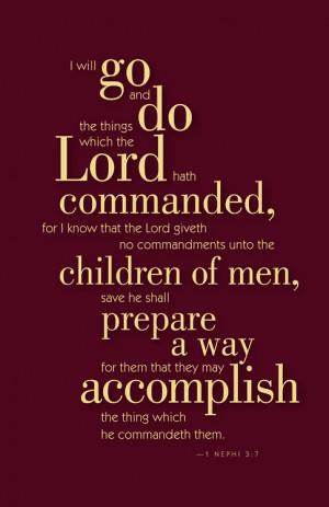 June 2012's scripture the LDS Primary children will be memorizing.