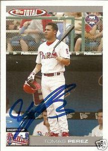 Tomas Perez Signed Philadelphia Phillies 2004 Topps Total Card