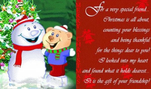 merry christmas for a very special friend christmas is all