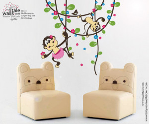 Monkey Wall decals - Monkey wall stickers. HUGE collection of monkey ...