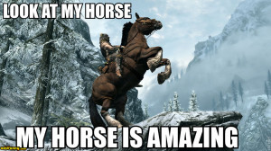 my horse skyrim funny pictures add funny
