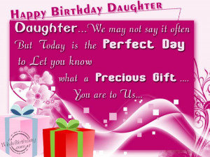 Birthday Wishes for Daughter - Happy Birthday Daughter Quotes, Message ...