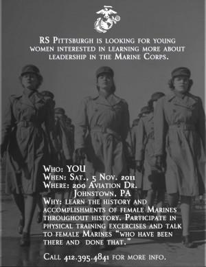 Women Marines Recruiting Poster