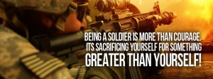 Facebook Cover Of Brave Military Quote.