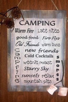Camping With Friends Quotes Camping sign friends food