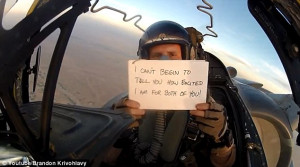 ... over Afghanistan in emotional video tribute for his brother's wedding