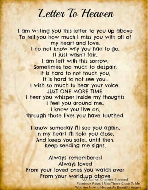 Letter to Heaven