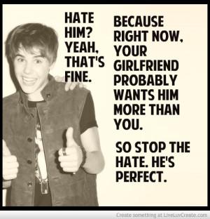 Stop Hating Justin Bieber