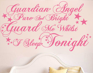 Guardian angel pure and bright, Guard me whilst i sleep tonight | Wall ...