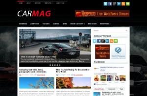 Cars News Magazine Black Free Wordpress Themes