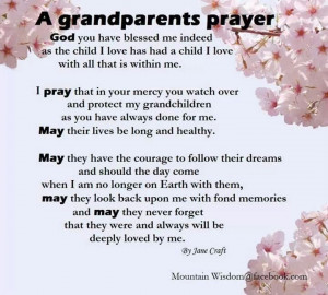 Grandparents prayer~
