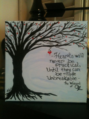 Wizard of Oz quote on 10 x 10 canvas