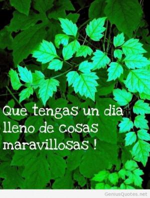 Buenos dias quote