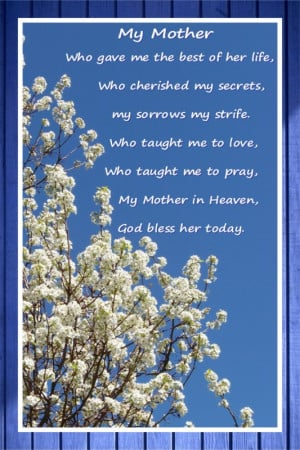 Obituary Poems For Mother...