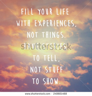 Inspirational motivation quote on cloud and sky background - stock ...