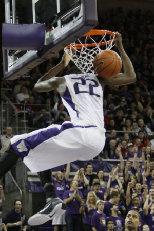 ... and alley-oop dunks during Washington's 90-60 victory over Nevada
