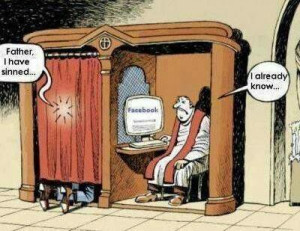Funny Catholic Priest Confession Facebook Cartoon - Father, I have ...