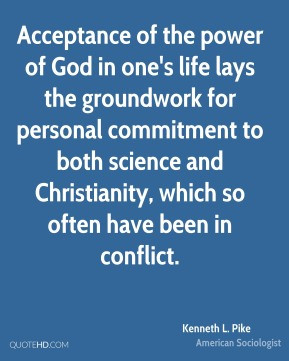Acceptance of the power of God in one's life lays the groundwork for ...
