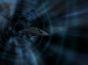 Voyager using Quantum slipstream drive . (