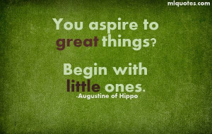 Quote about great things by Augustine of Hippo