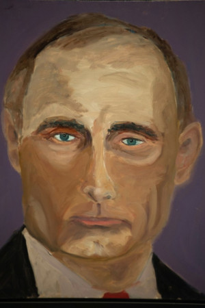 Maybe if Putin took care of the horrible growth on his neck, he'd ...