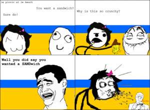 Rage Comic - Picnic at Beach
