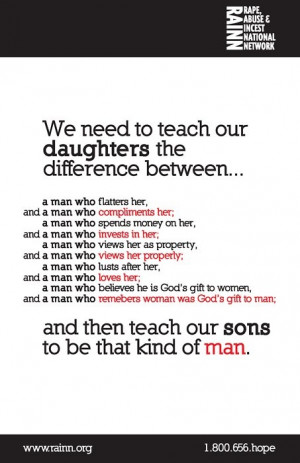 Teach our daughters....