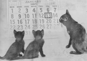 ... to describe how the superstition of Friday the 13th originated.' 1967