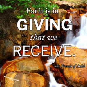 it is in giving giving back picture quote