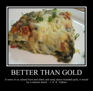 Food Pictures And Quotes: BETTER THAN GOLD Quote About Food In Funny ...