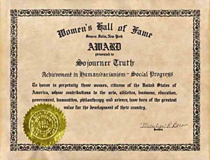 Sojourner Truth was inducted into the National Women's Hall of Fame in ...