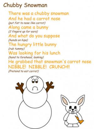Chubby Snowman Poem
