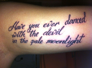 inner arm quote tattoos