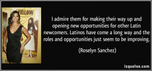 opening new opportunities for other Latin newcomers. Latinos have come ...