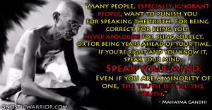 Gandhi Quote: Many people, especially ignorant people, want to punish ...